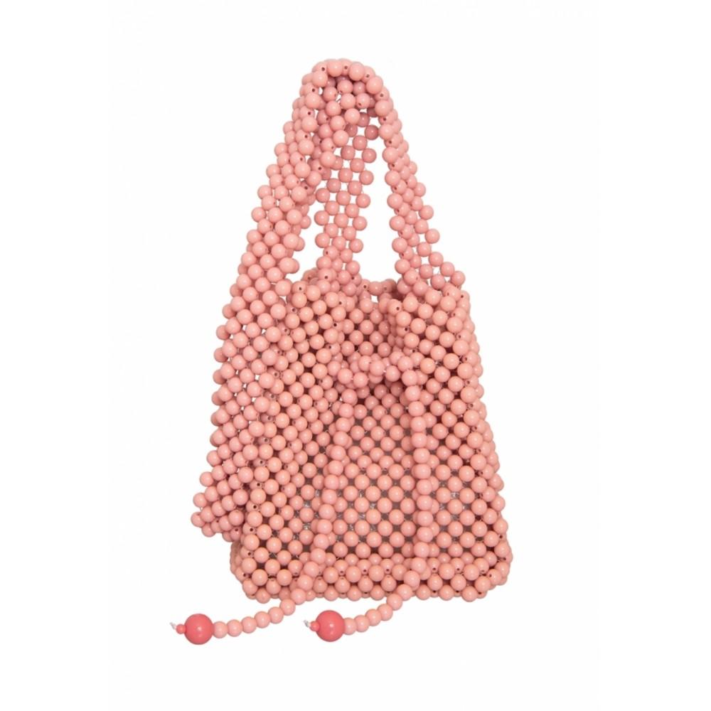 Bolsa Le Diamond Artesanal de Bolinhas Rosa