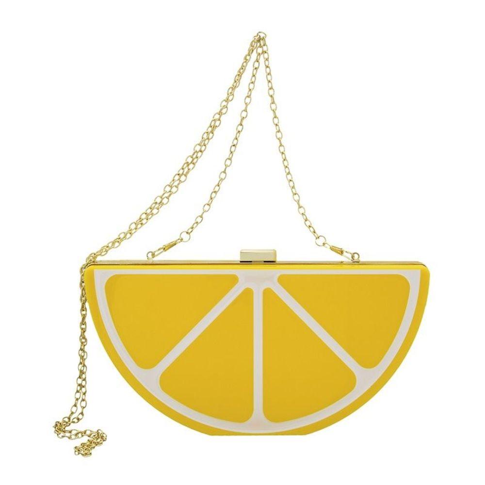 Bolsa Le Diamond Laranja Amarelo