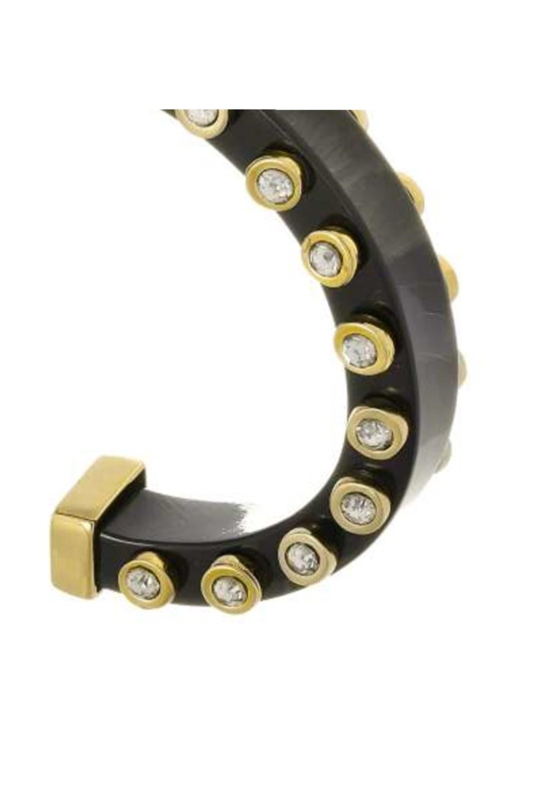 Bracelete Le Diamond Acrilico com Tachas Preto