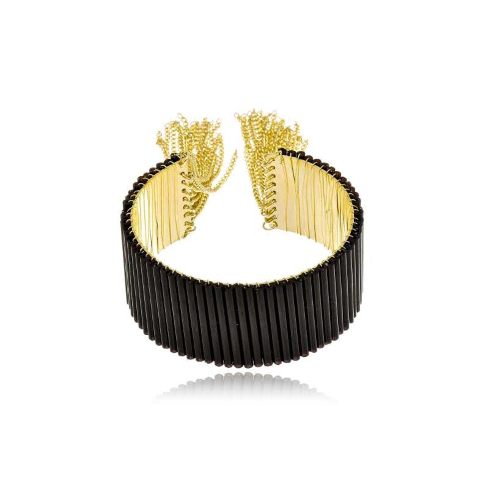 Bracelete Le Diamond Aleonore Preto