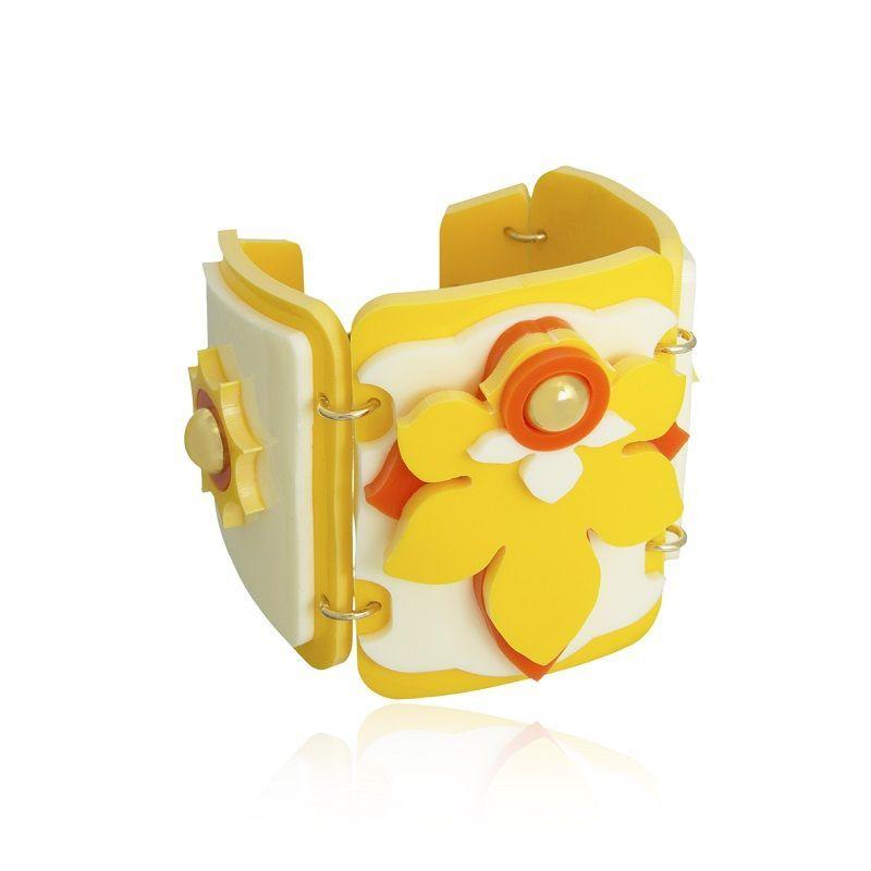 Bracelete Le Diamond Bella Amarelo