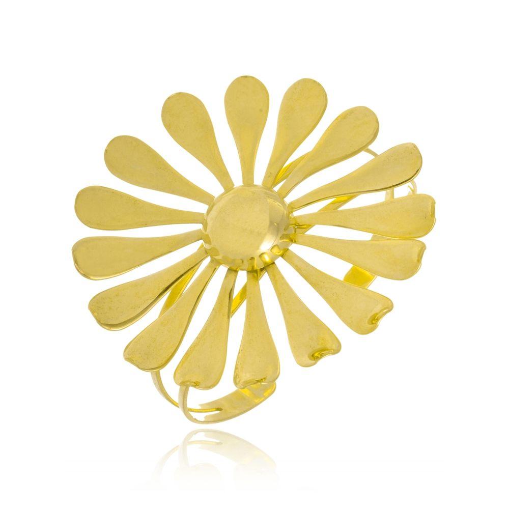 Bracelete Le Diamond Flor Folheada a Ouro