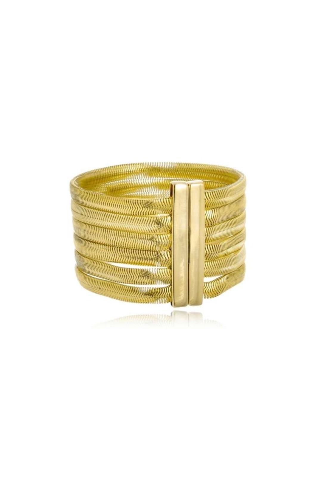 Bracelete Le Diamond Malha Dourado