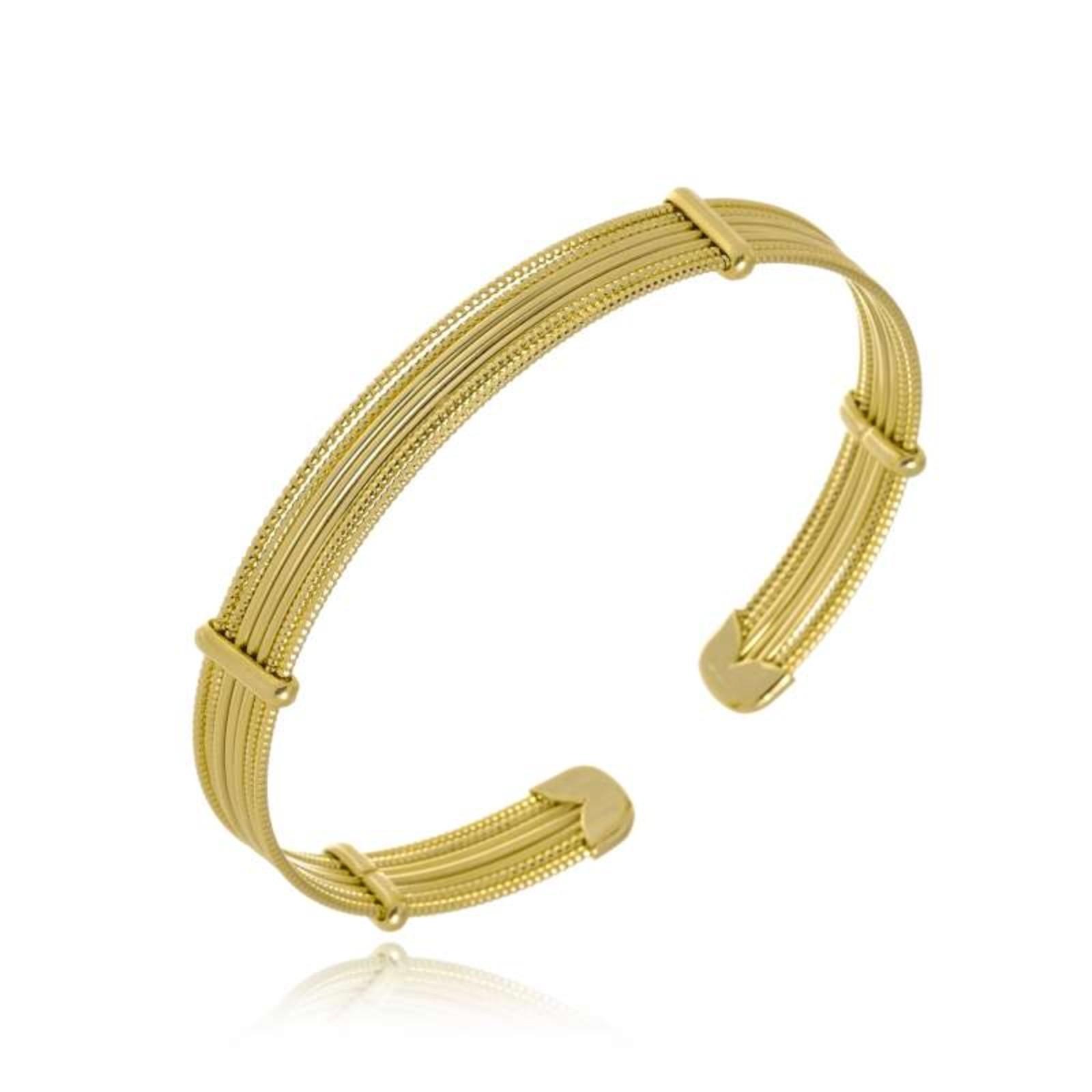 Bracelete Le Diamond Fios Dourado