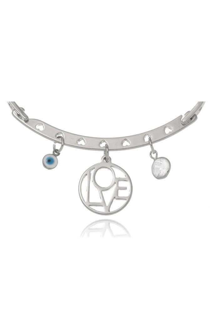 Bracelete Le Diamond Patuá Amor Prata