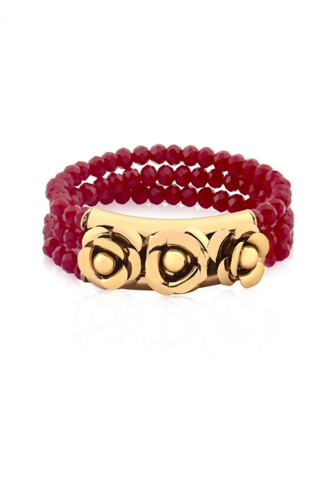 Bracelete Milao Le Diamond Marsala