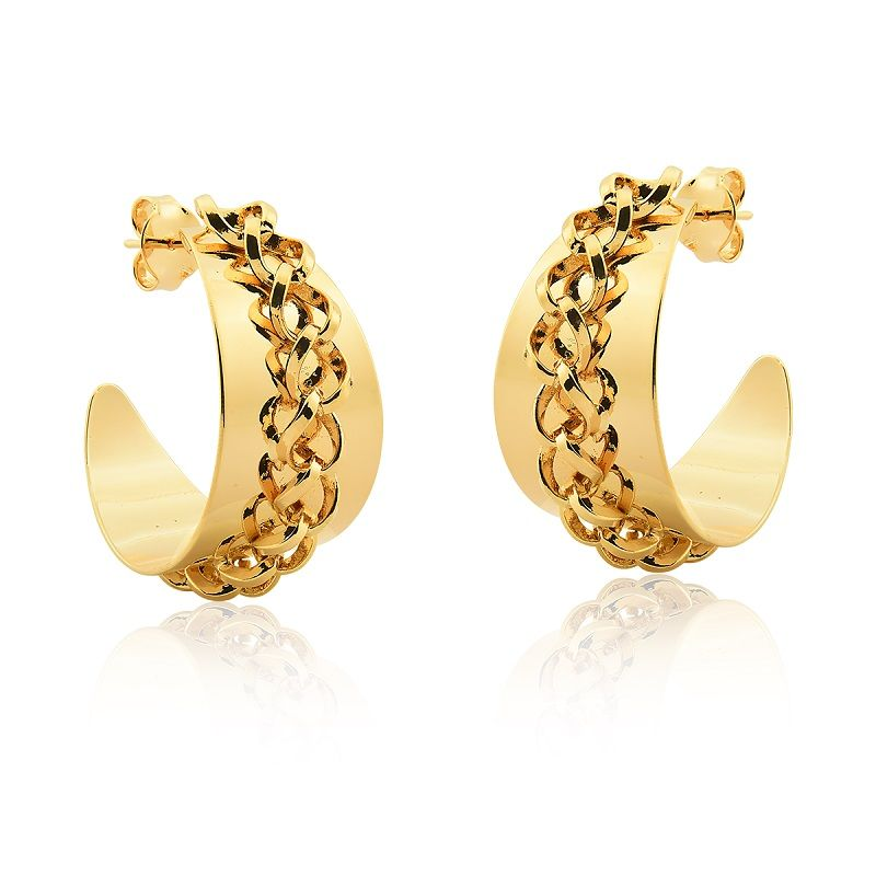 Argola Le Diamond Correntes Dourado