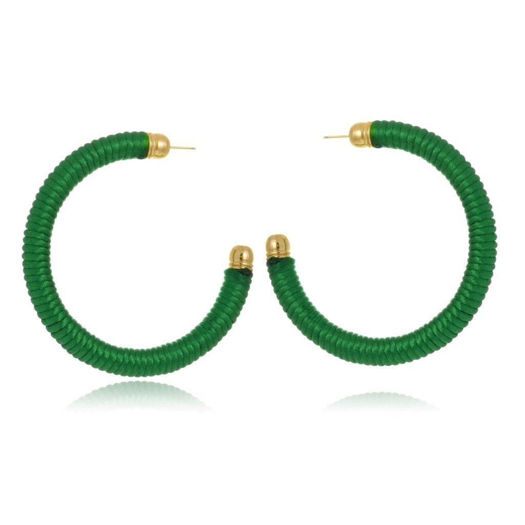 Brinco Argola Le Diamond Fios Verde