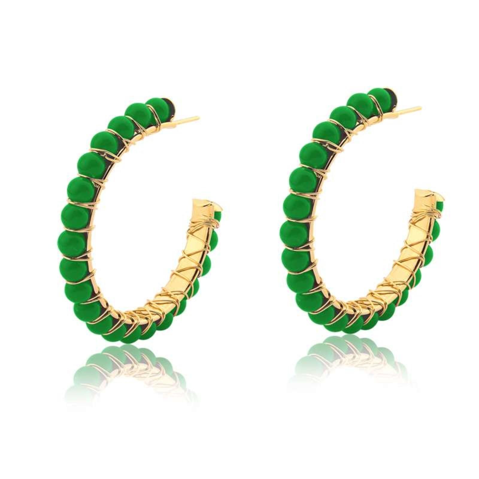 Brinco Le Diamond Argola Apolline Verde