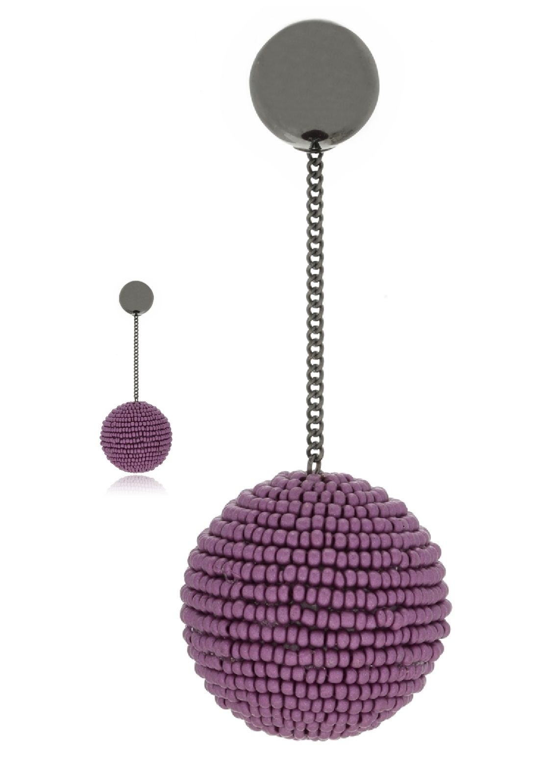 Brinco Le Diamond Bubble Roxo