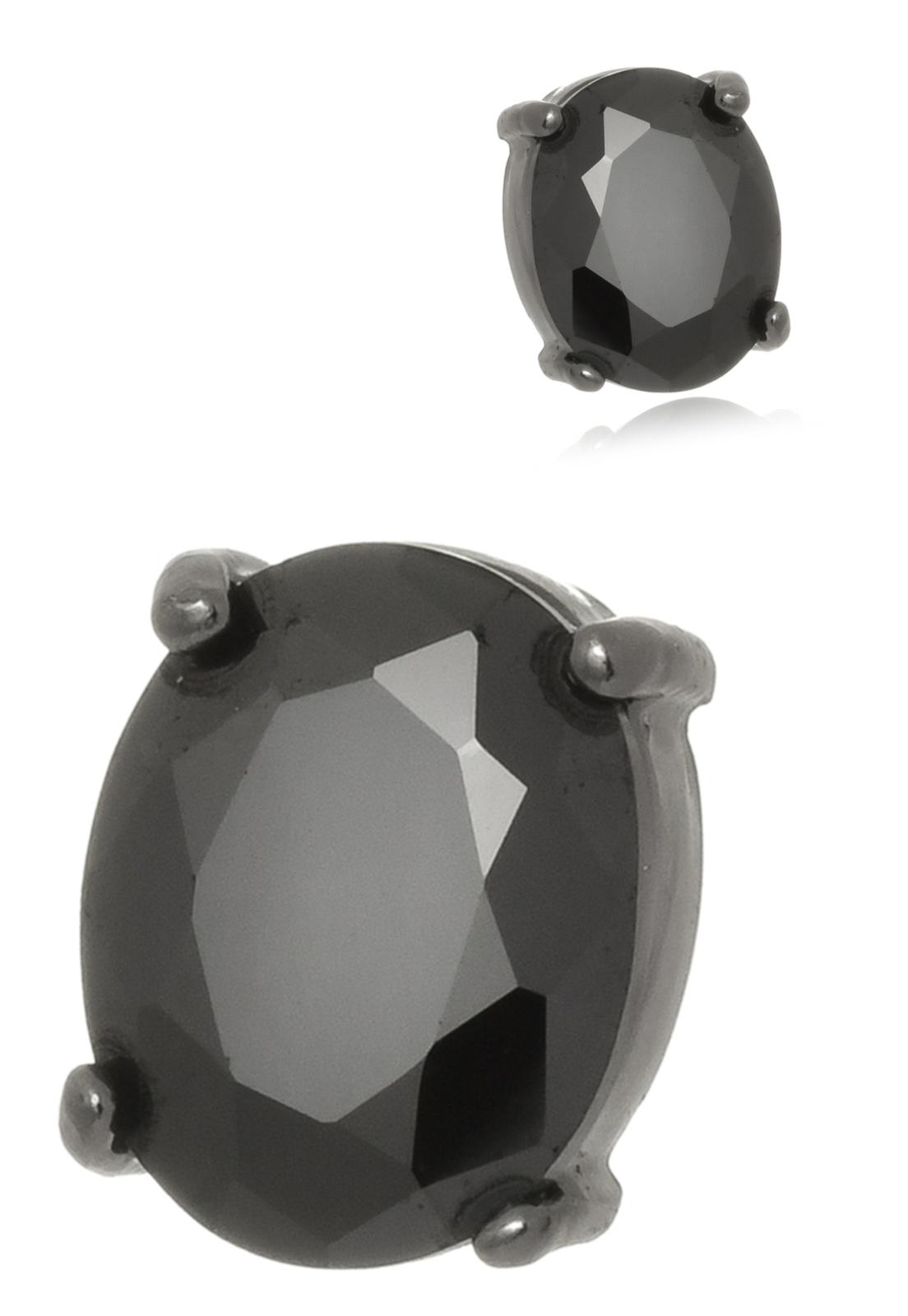 Brinco Le Diamond Cabochão Preto