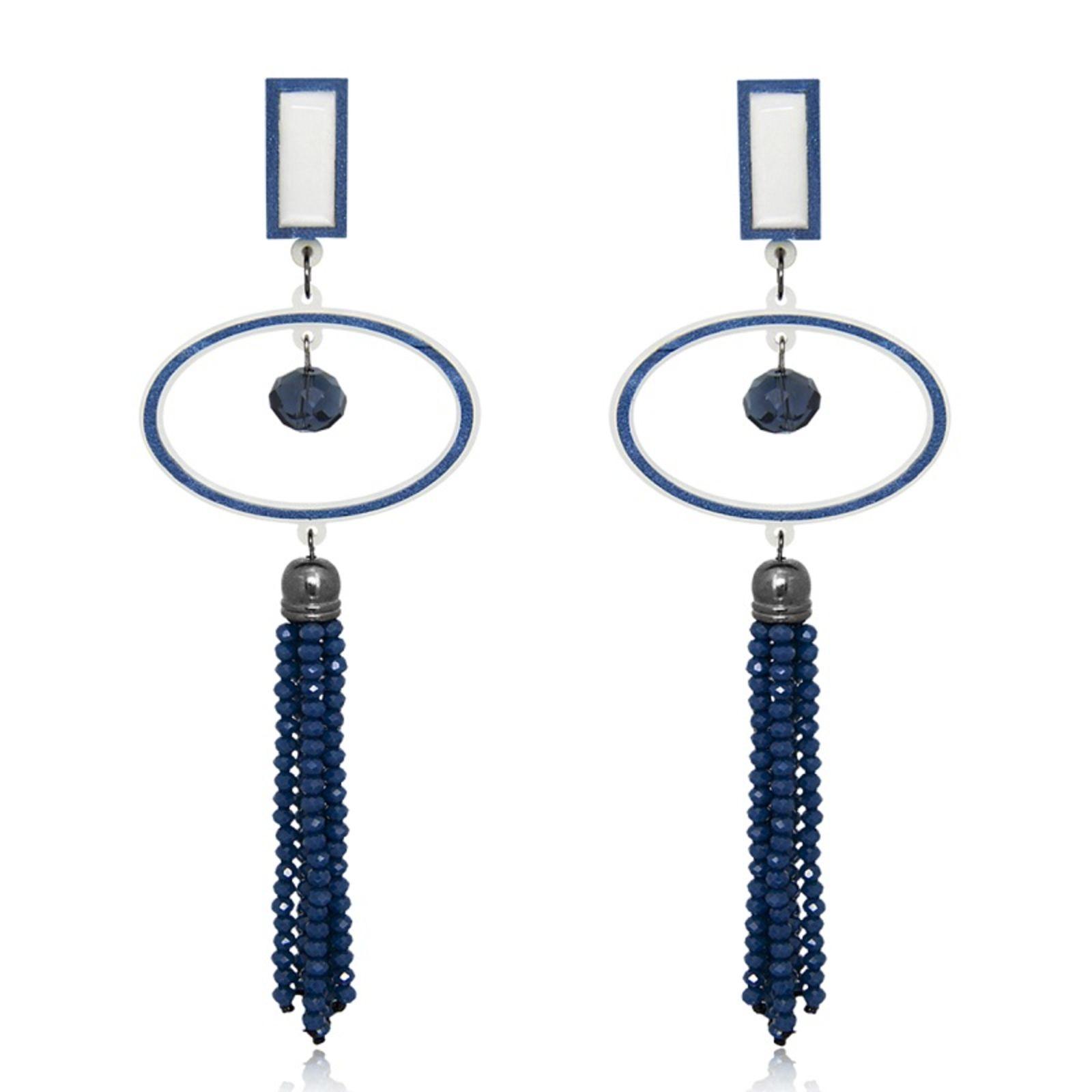 Brinco Le Diamond Cecília Azul