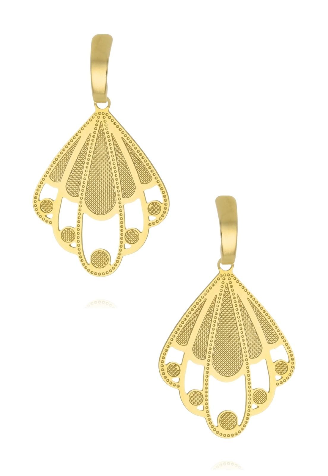 Brinco Le Diamond Chapa Dourado
