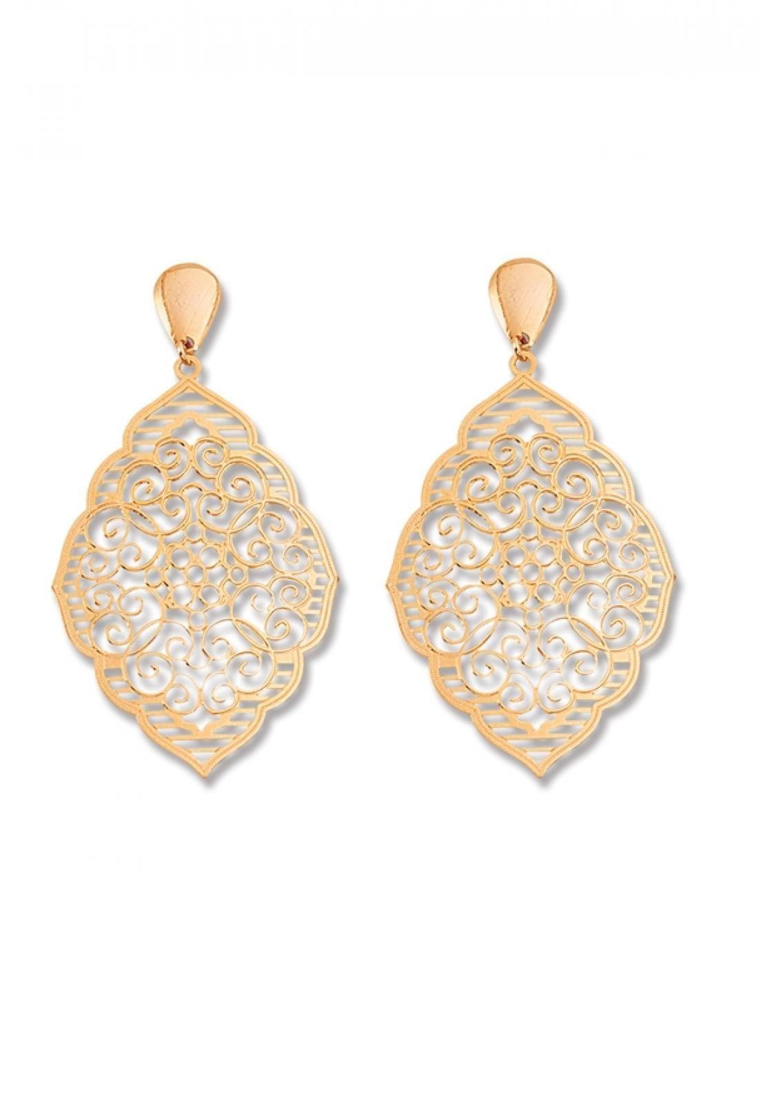 Brinco Le Diamond Chapa Mandala Dourado