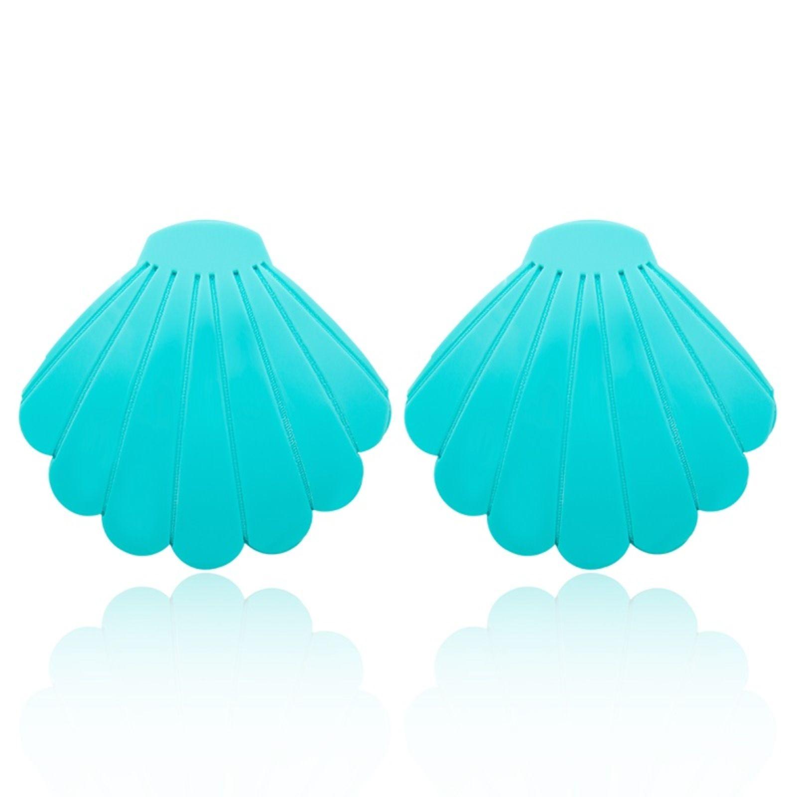 Brinco Le Diamond Concha Grande Azul