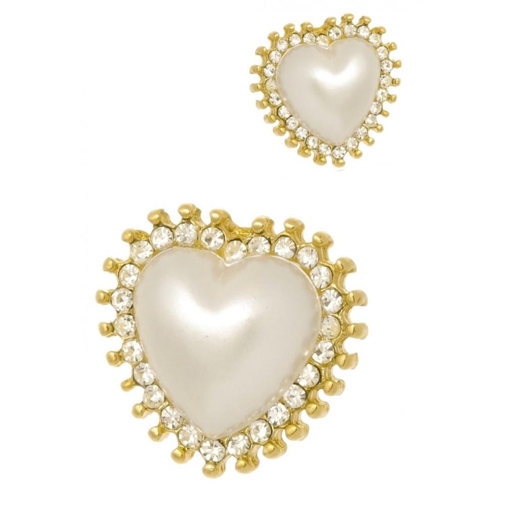 Brinco Le Diamond Coração de Perola