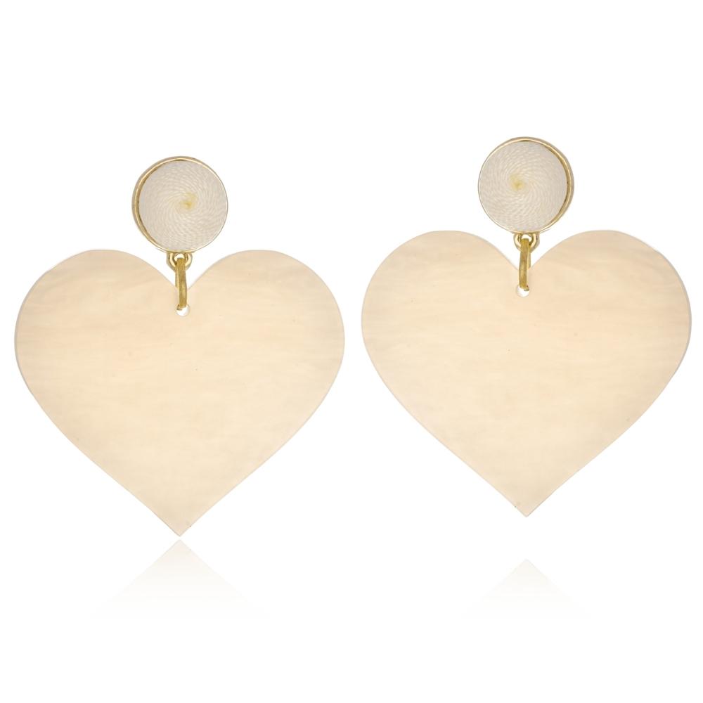 Brinco Le Diamond Coração Love