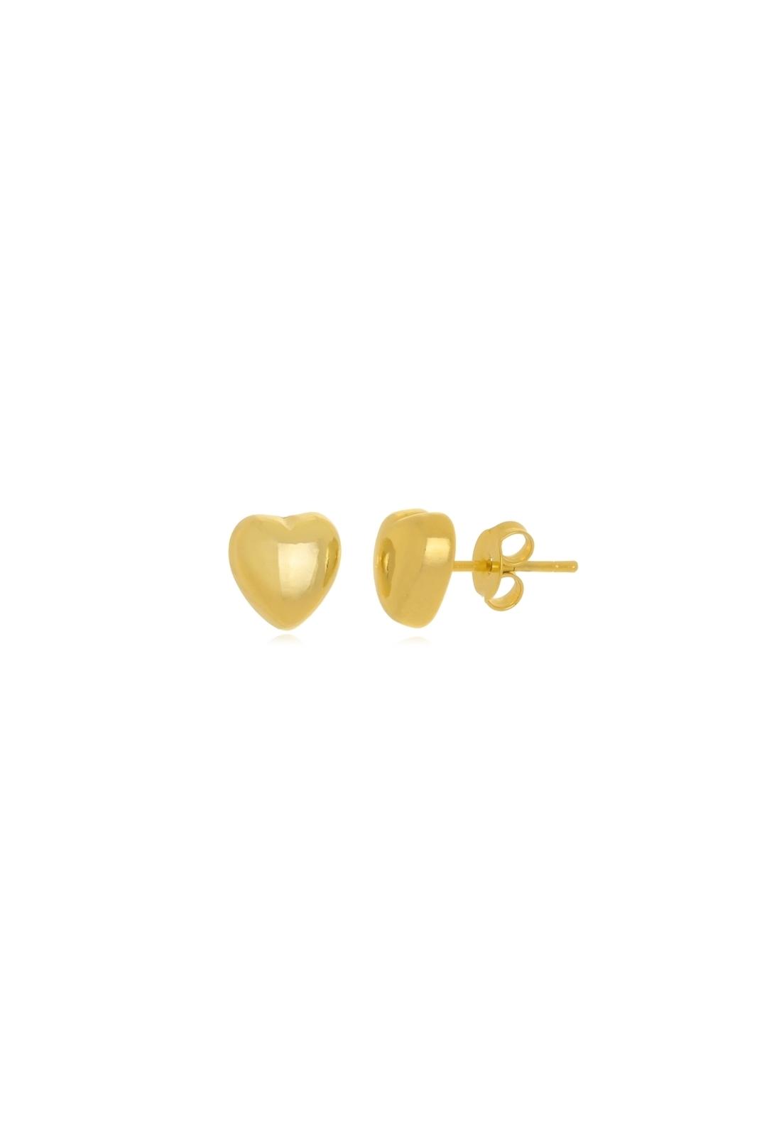 Brinco Le Diamond Coração Médio Dourado