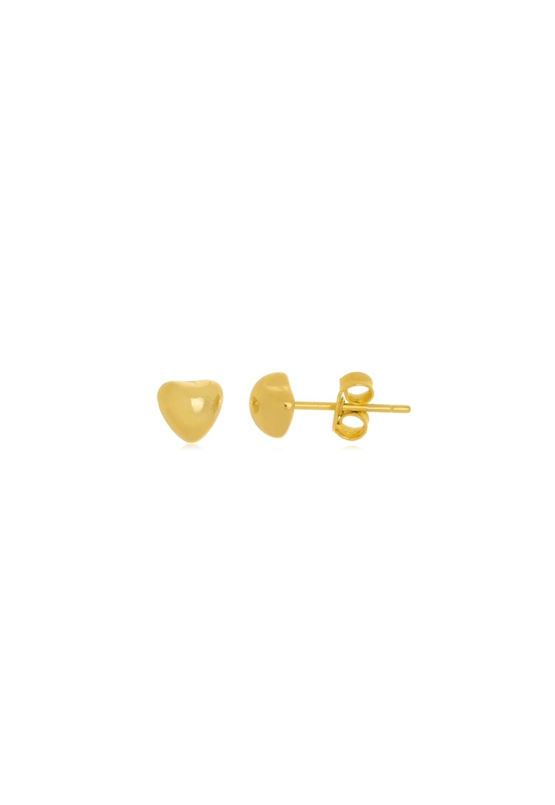 Brinco Le Diamond Coração Pequeno Dourado