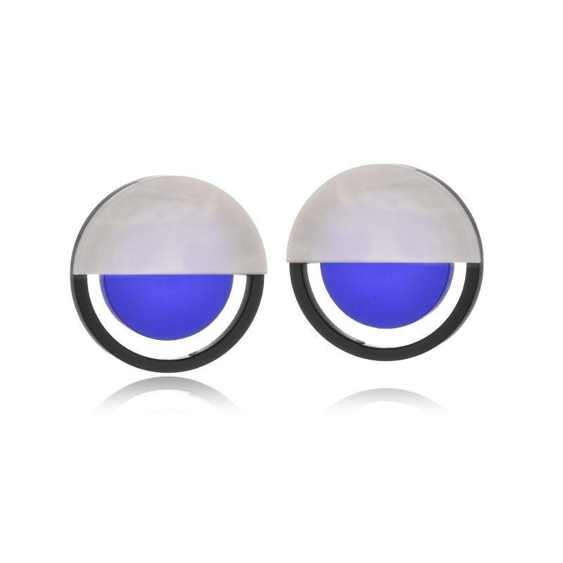 Brinco Le Diamond De A Mini Azul