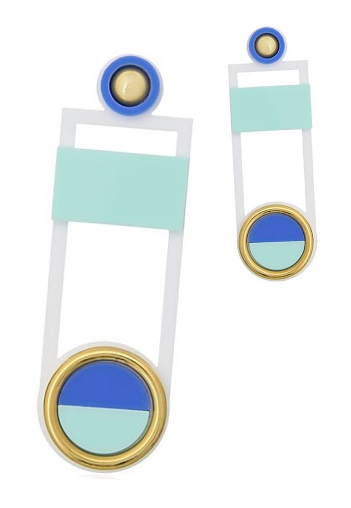 Brinco Le Diamond Estela Azul