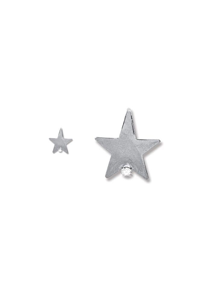 Brinco Le Diamond  Estrela Prateada