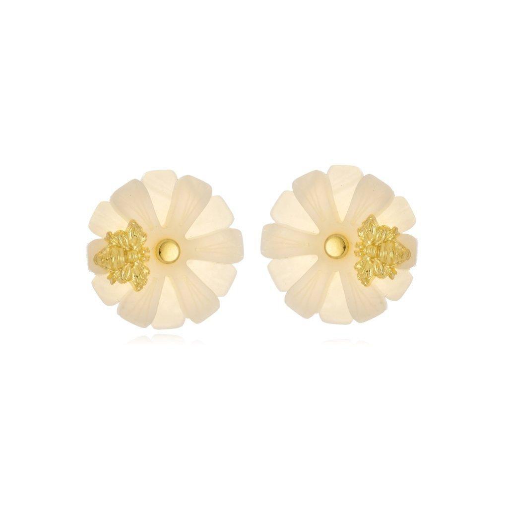 Brinco Le Diamond Flor Pequena com Abelha