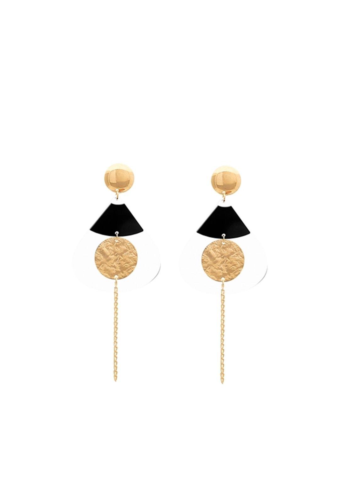 Brinco Le Diamond Formas Geométricas Dourado