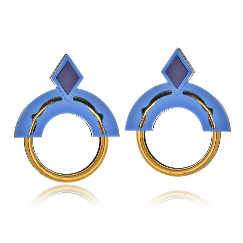 Brinco Le Diamond Ingrid Azul