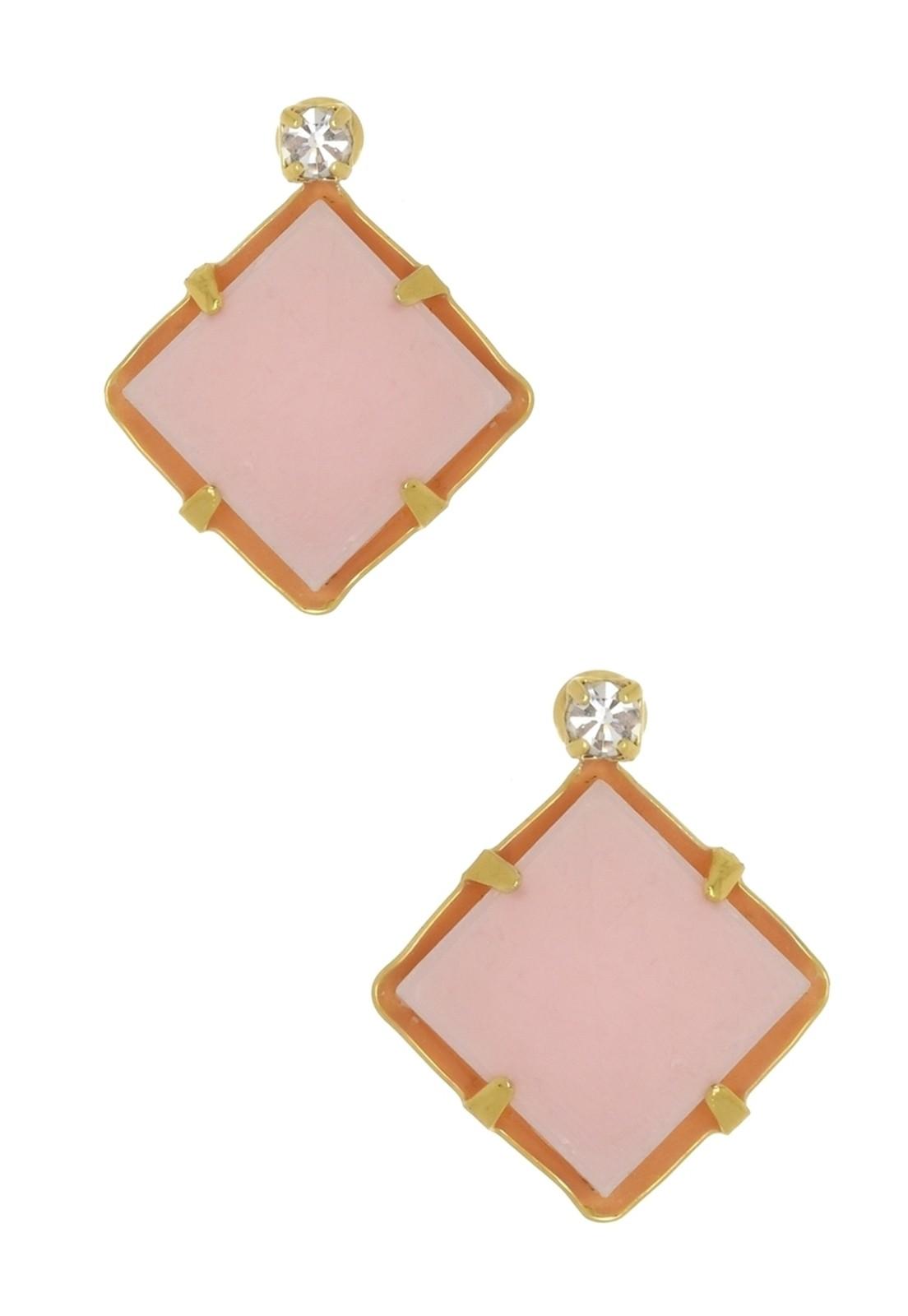 Brinco Le Diamond Losango Rosa