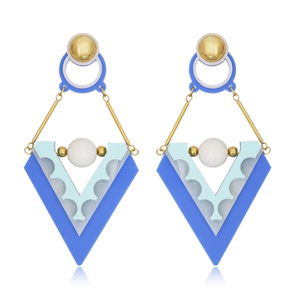 Brinco Le Diamond Louise Azul