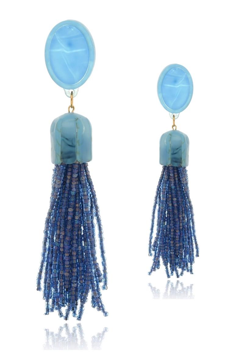 Brinco Le Diamond Luciana Azul