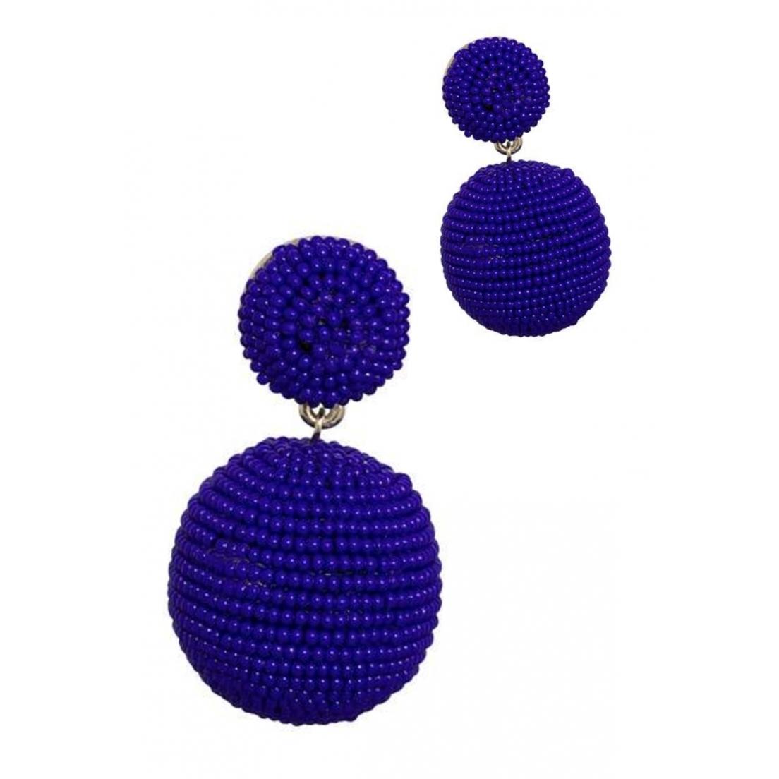 Brinco Le Diamond Miçanga Azul