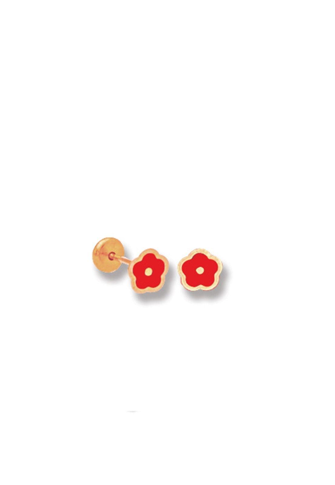 Brinco Le Diamond Mini Flor Vermelha