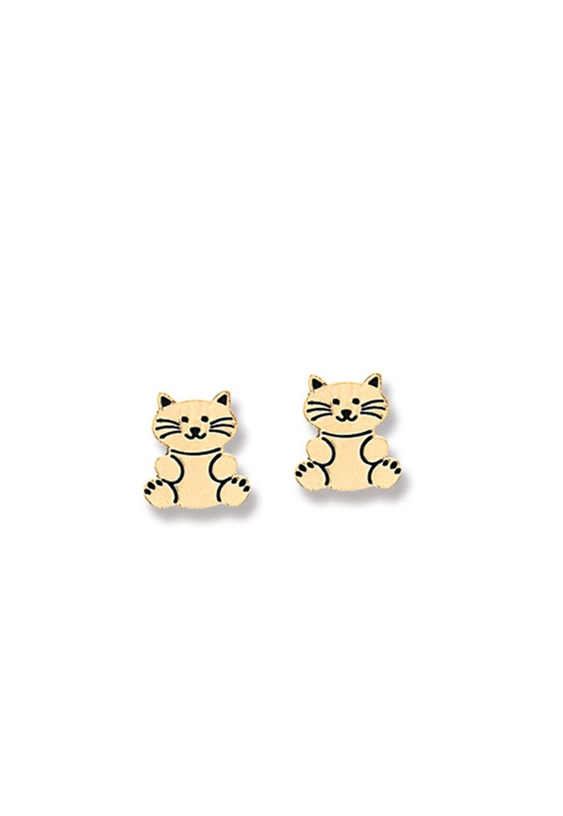 Brinco Le Diamond Mini Gatinho Dourado