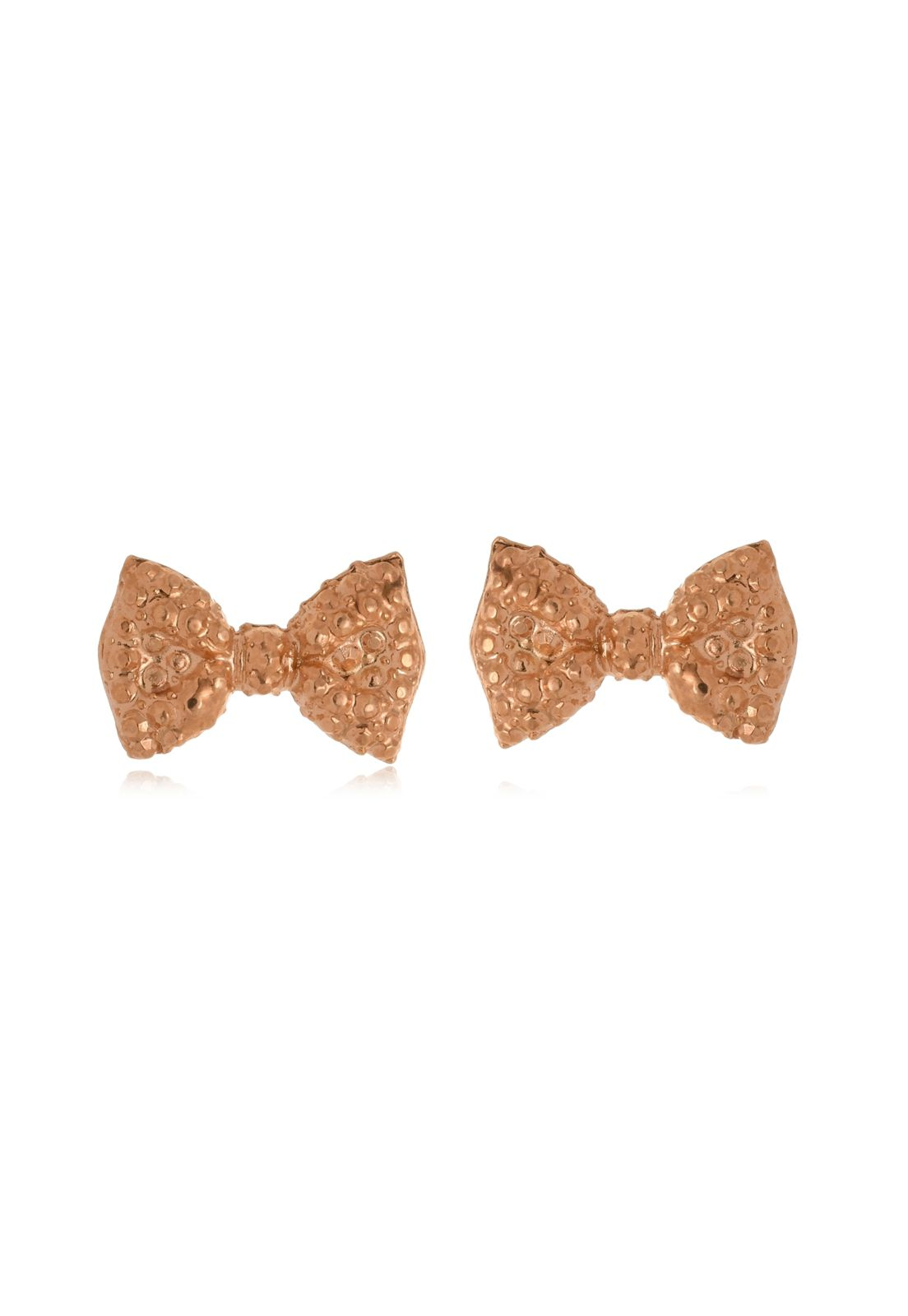 Brinco Le Diamond Mini Laço Dourado