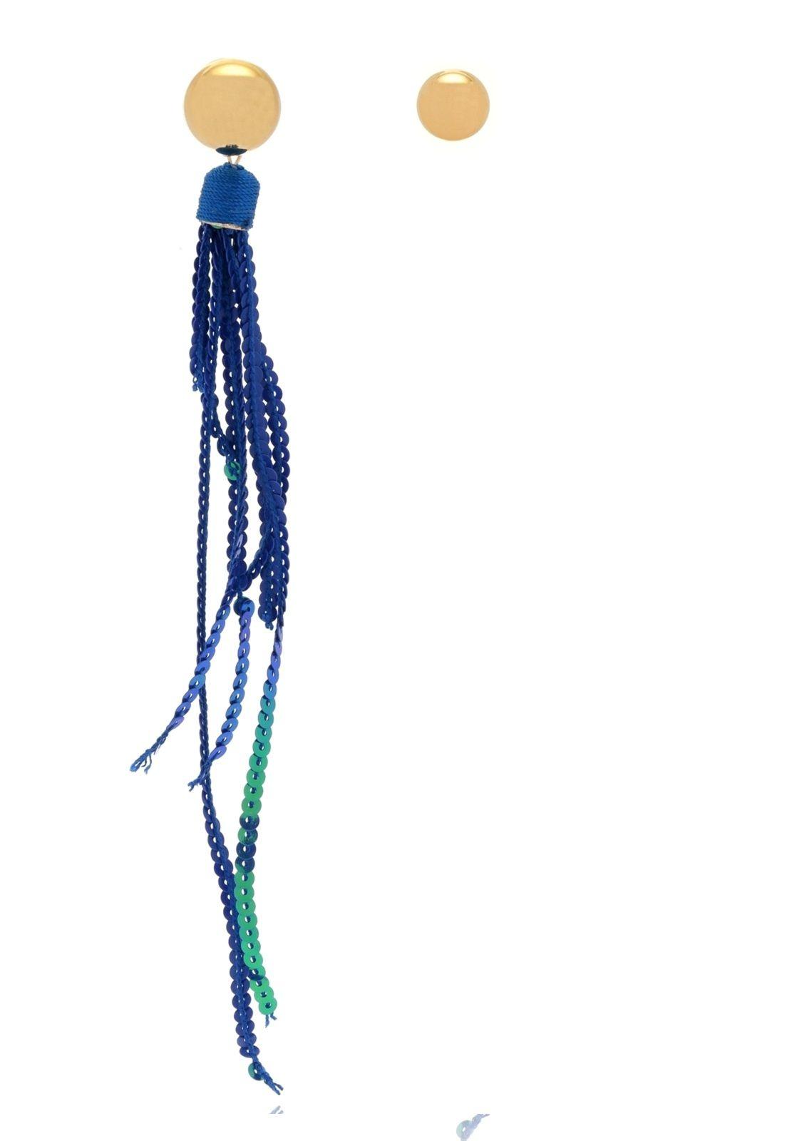 Brinco Le Diamond Paête Azul Royal