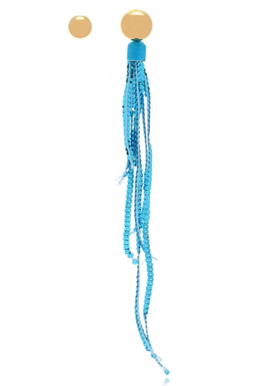Brinco Le Diamond Paetê Azul Turquesa