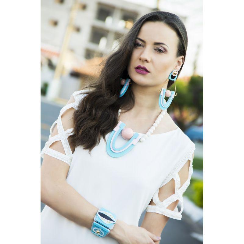 Brinco Le Diamond Rebecca Azul