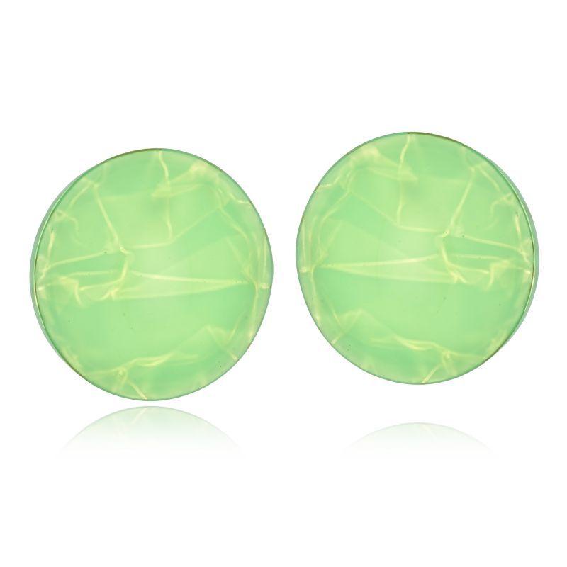 Brinco Le Diamond Redondo Acrílico Verde