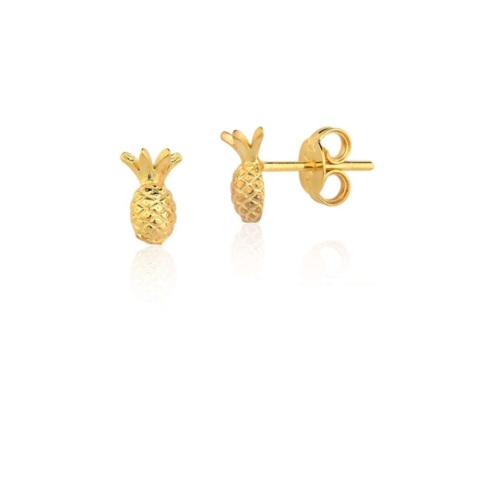 Brincos Le Diamond Abacaxi Dourado
