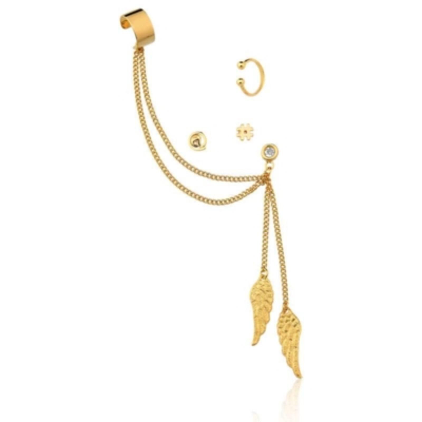 Brincos Le Diamond Ear Bling Dourado