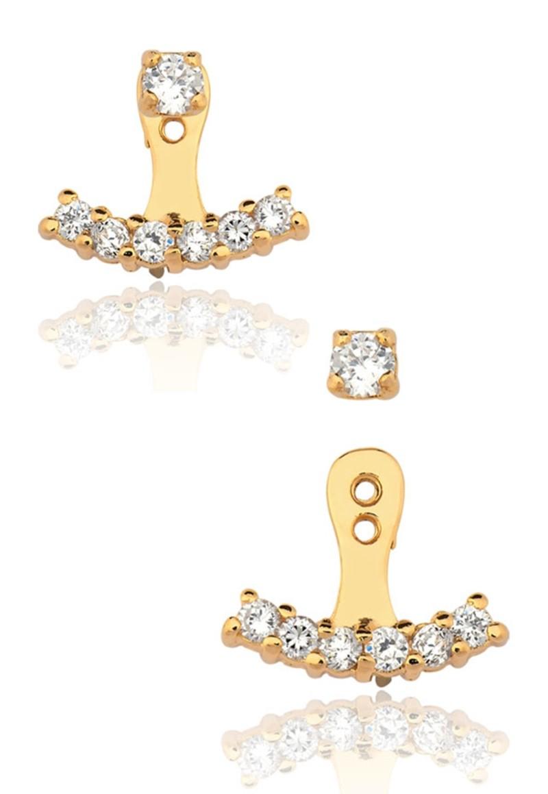 Brincos Le Diamond Ear Jacket Dourado
