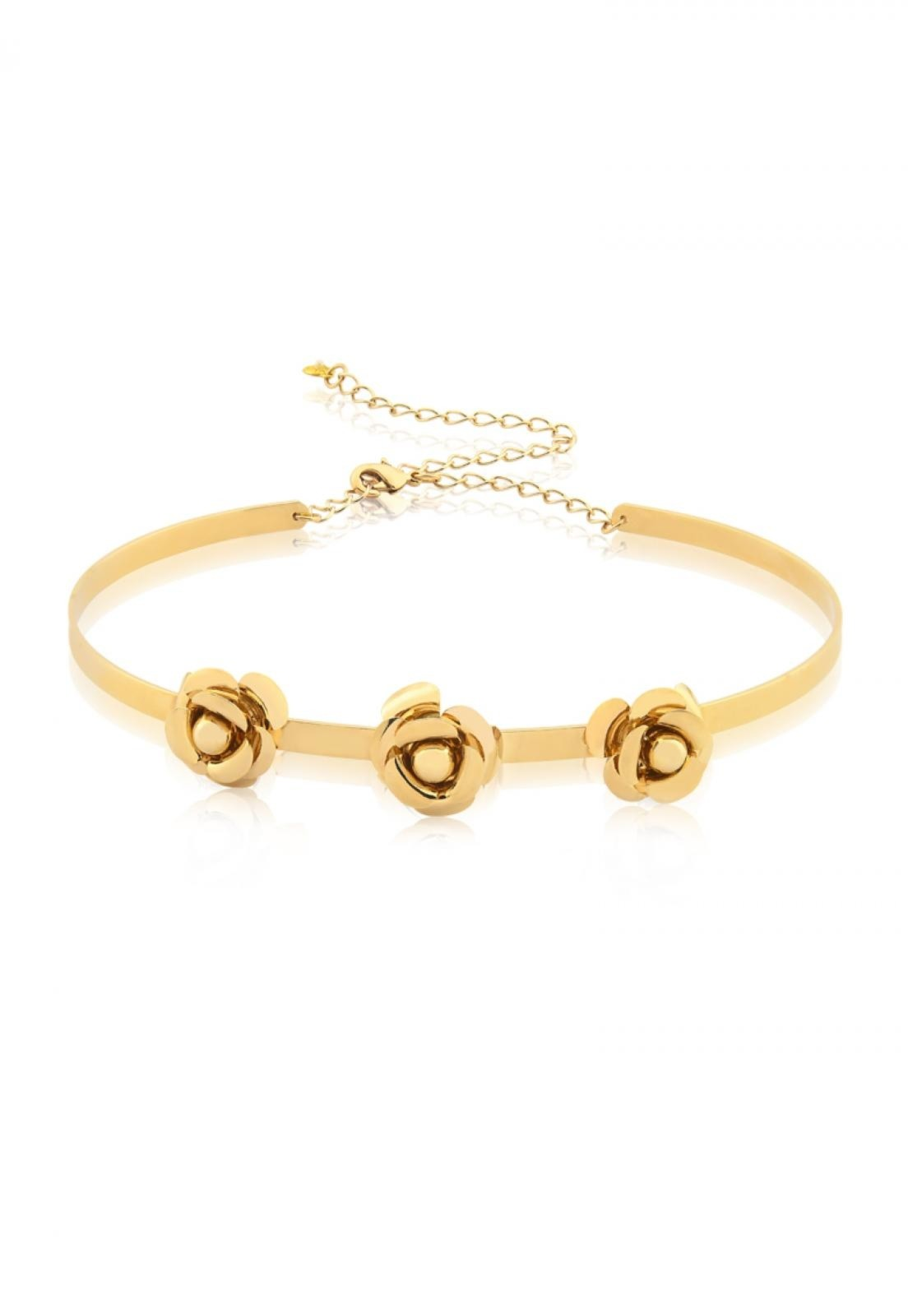 Choker Flower  Le Diamond  Dourado