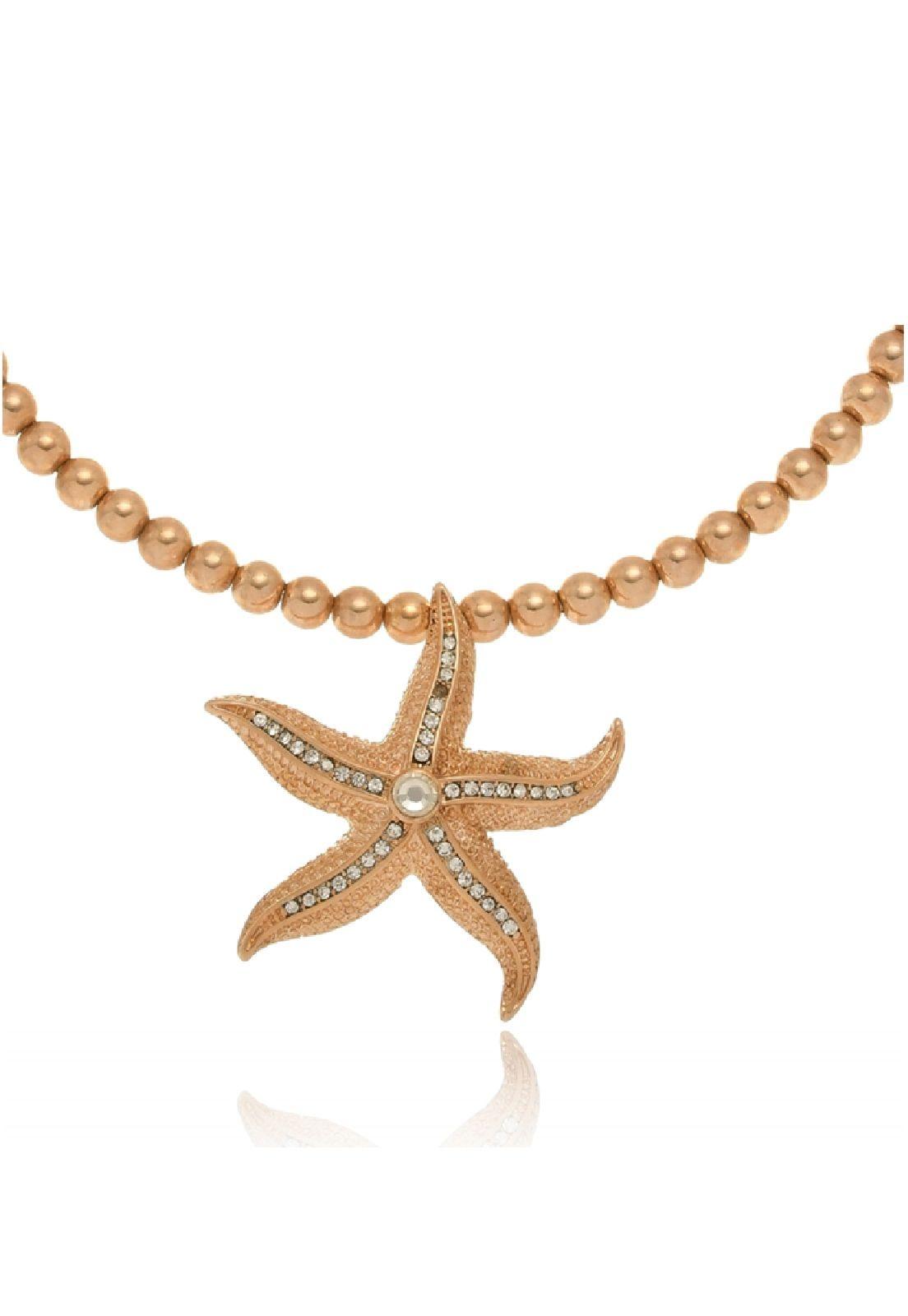 Choker Le Diamond Estrela do Mar com Zircônias Dourada