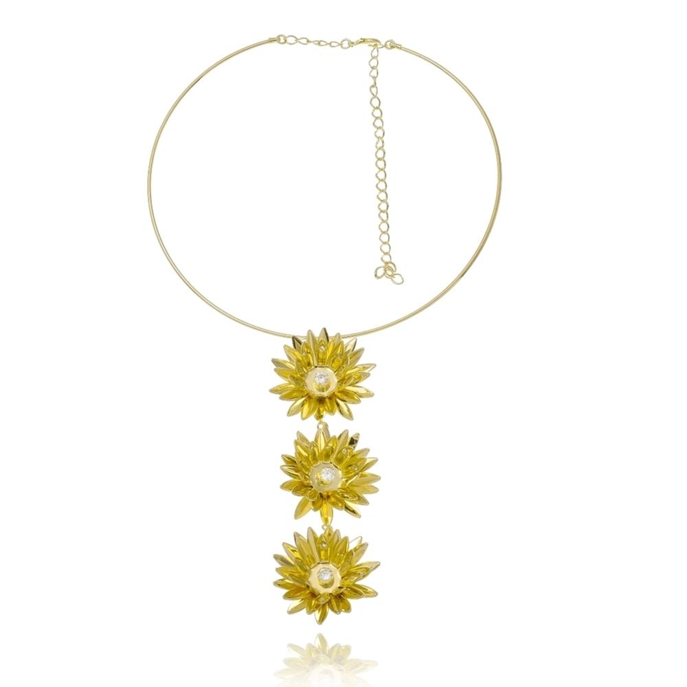 Choker Le Diamond Flor de Lotus