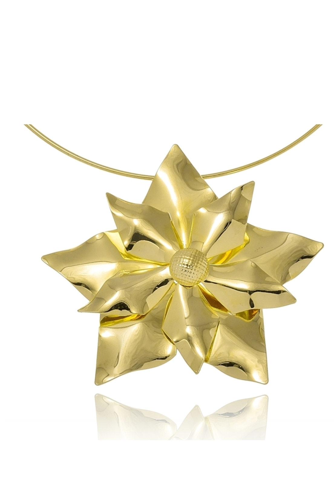 Choker Le diamond Flor Grande Dourado