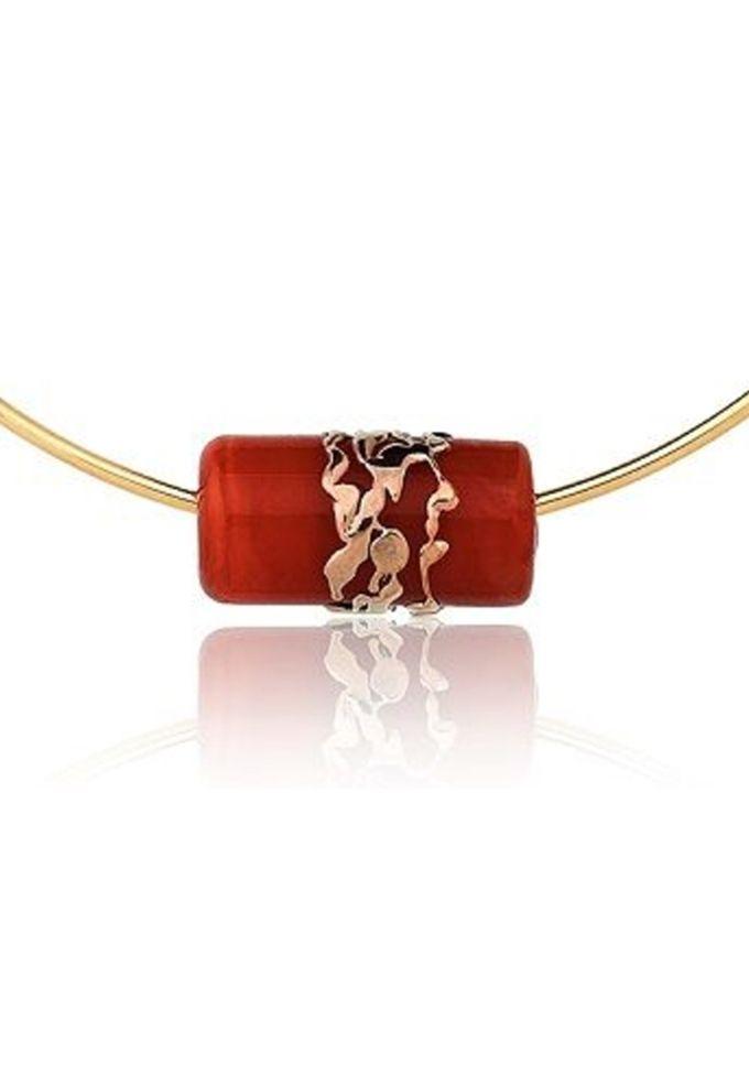 Colar Choker Le Diamond Murano Vermelho