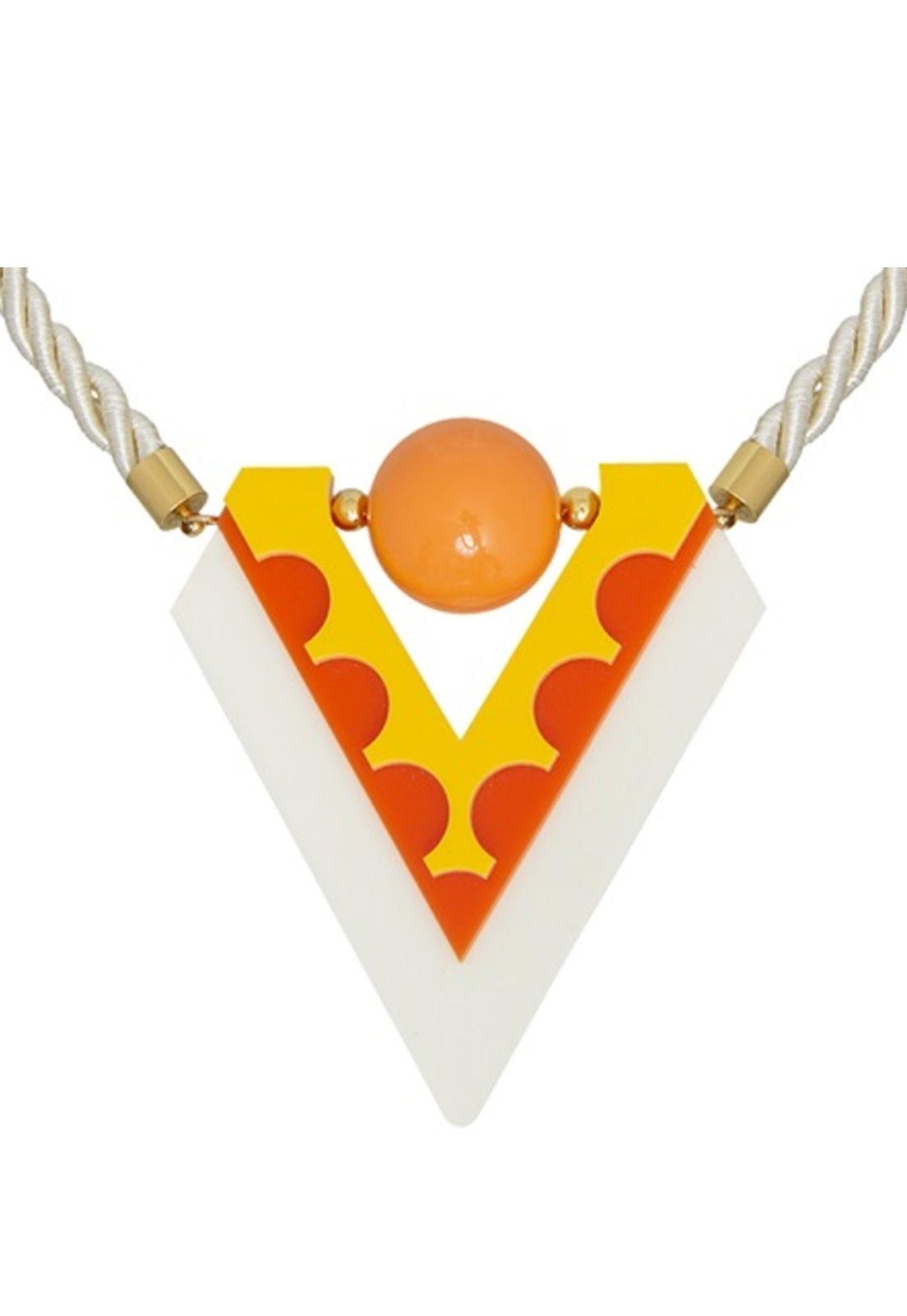 Colar Le Diamond Acrílico Amarelo