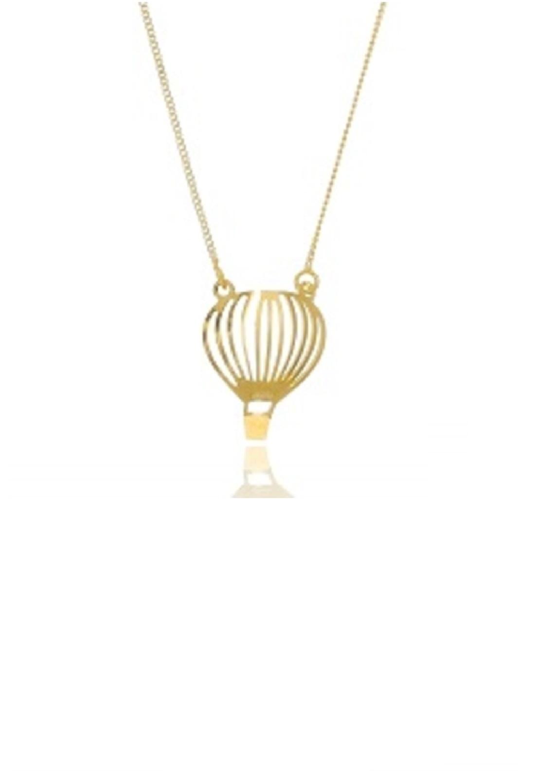 Colar Le Diamond Balão Pequeno Liso Dourado